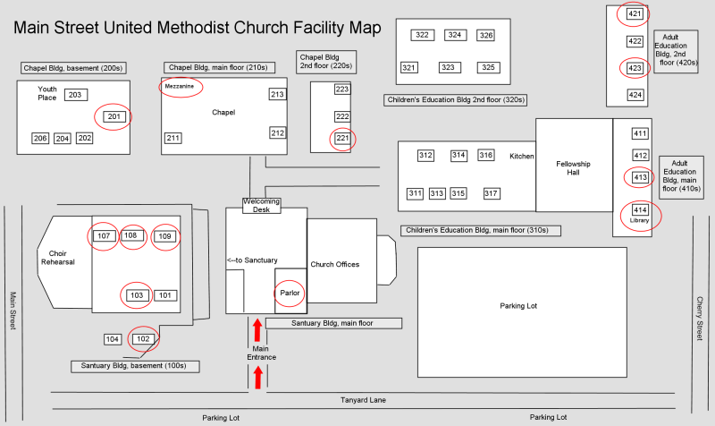 Sunday School Campus Map