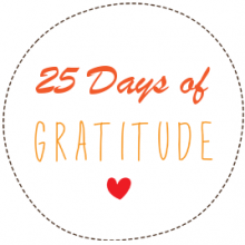 25 Days of Gratitude