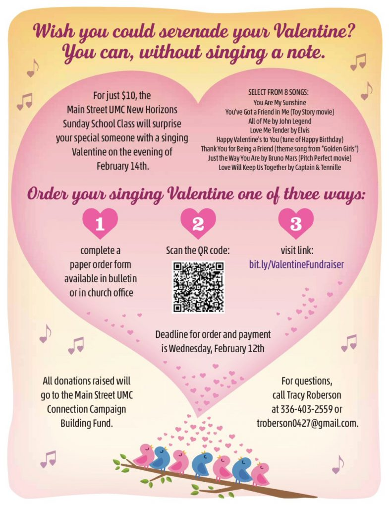 Singing Valentine Fundraiser