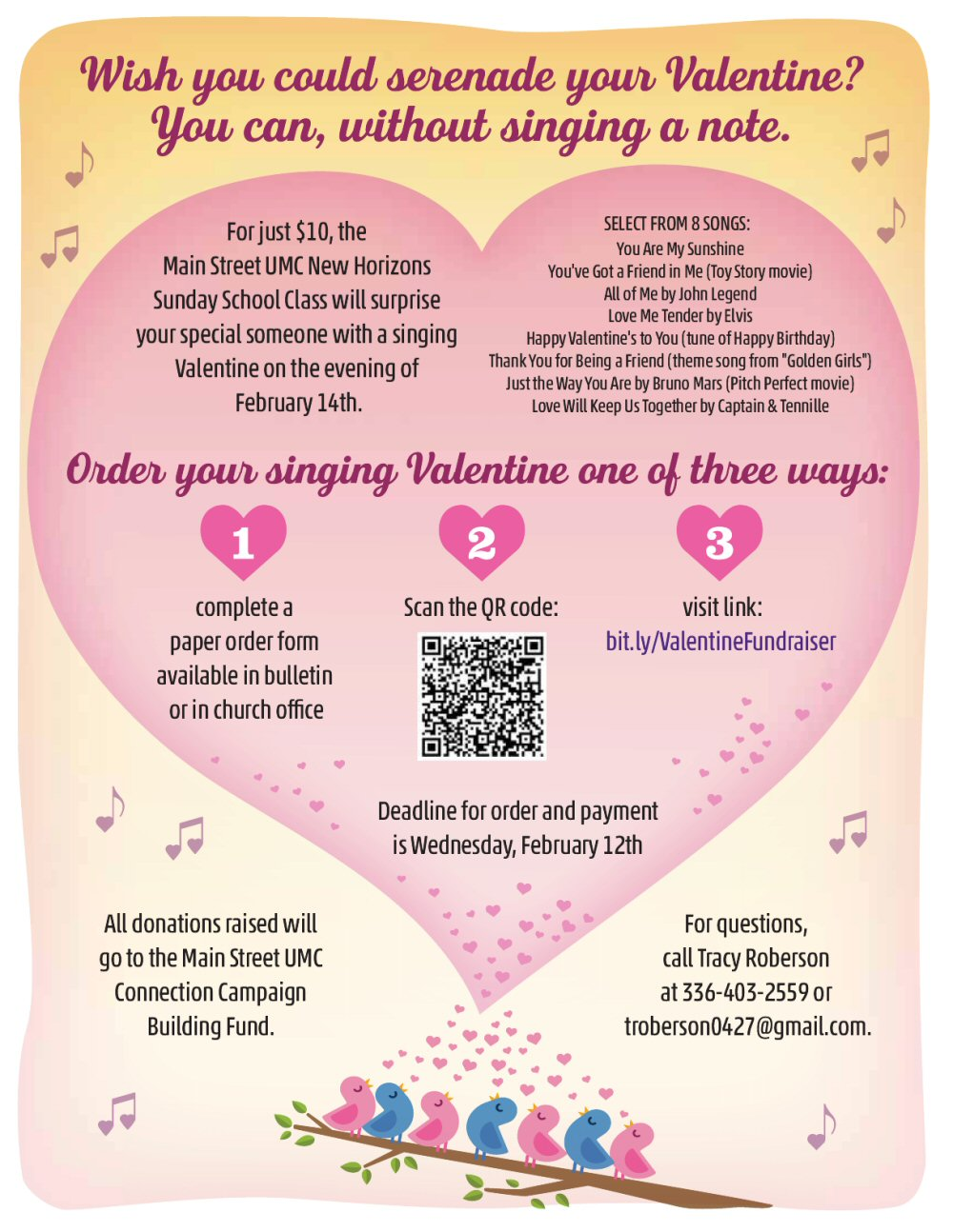Singing Valentine Fundraiser