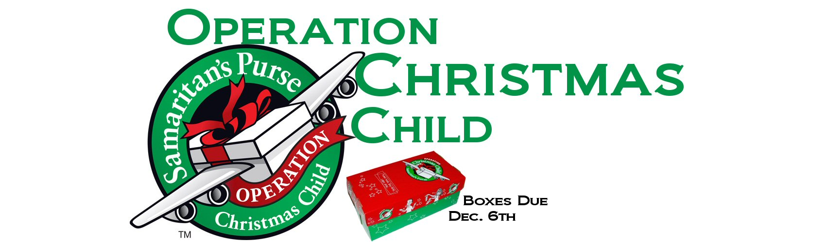 Operation Christmas Child Shoesbox 2020